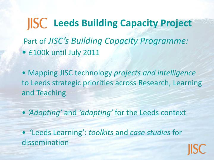 Leeds Building Capacity Project