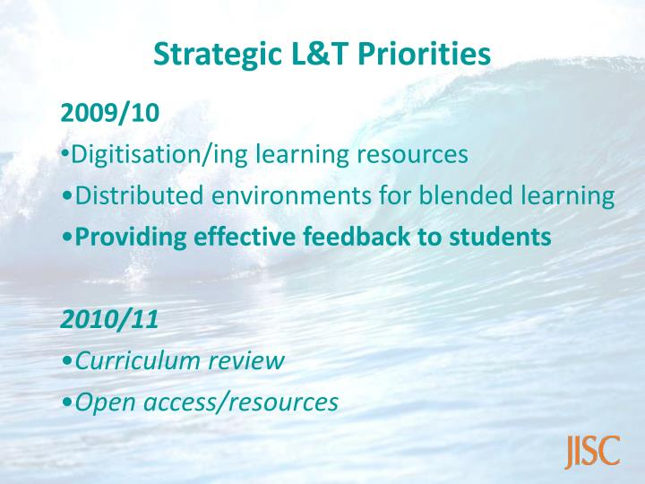 Strategic L&T Priorities