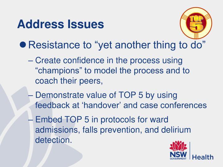 Address Issues