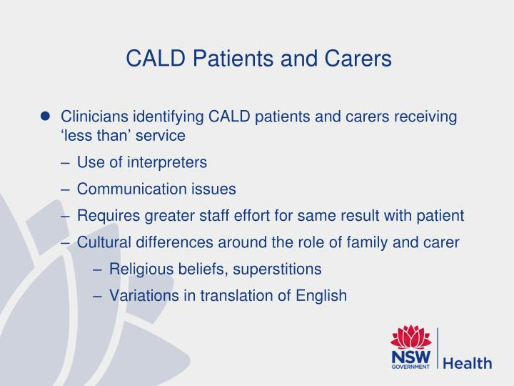 CALD Patients and Carers