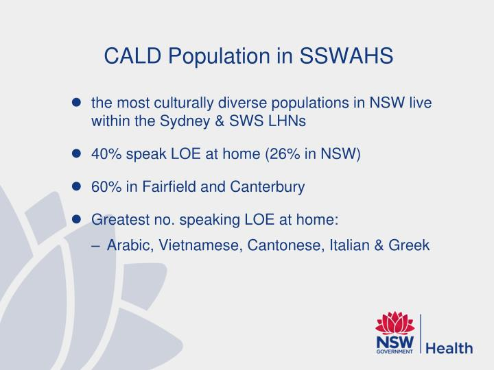 CALD Population in SSWAHS