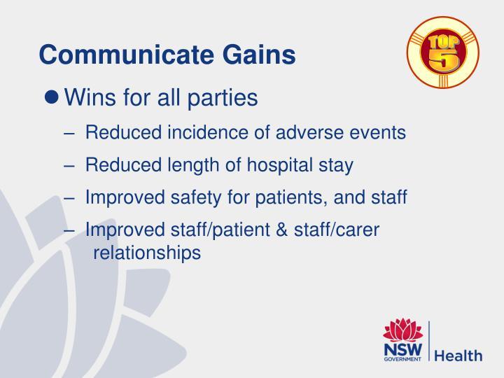 Communicate Gains