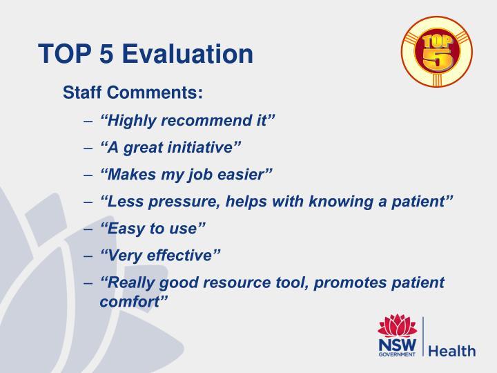 TOP 5 Evaluation