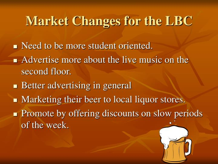 Market Changes for the LBC