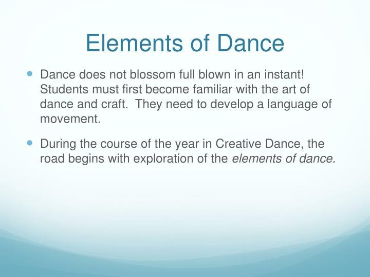 Elements of Dance