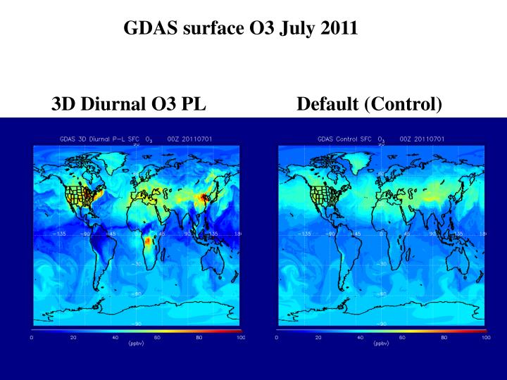 GDAS surface O3 July 2011