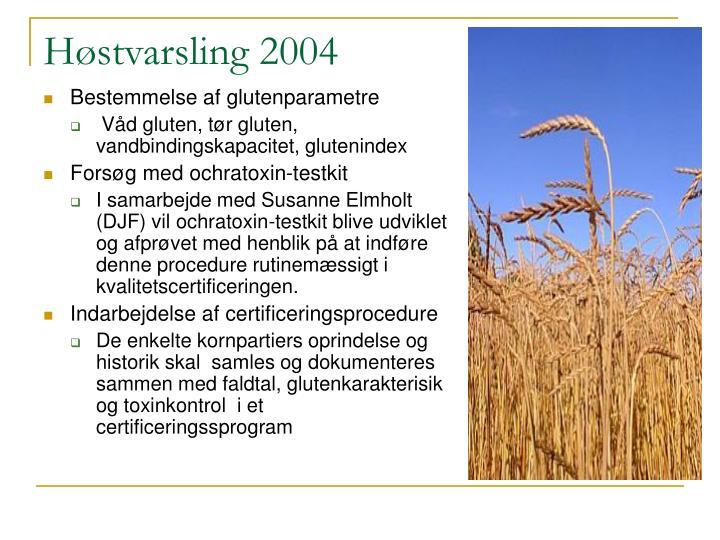 Høstvarsling 2004