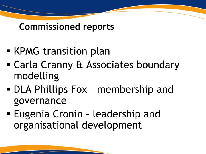 Commissioned reports