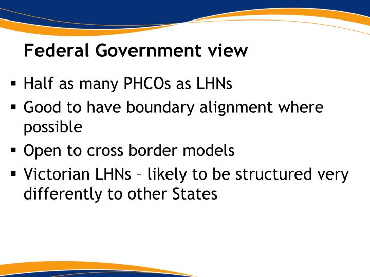 Federal Government view
