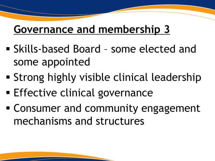 Governance and membership 3