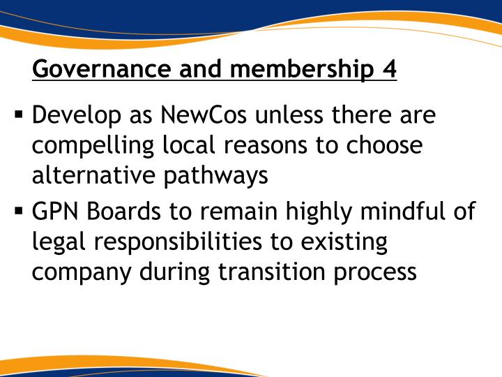 Governance and membership 4
