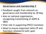 governance and membership 5