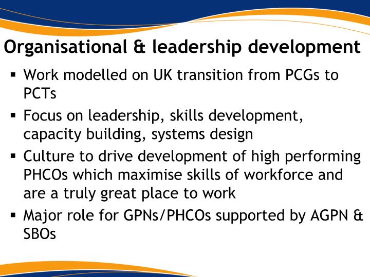 Organisational & leadership development