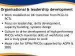 organisational leadership development
