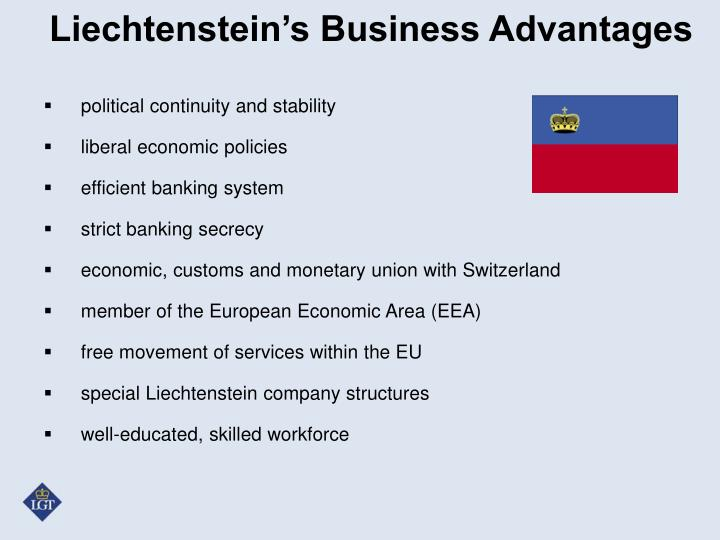 Liechtenstein's Business Advantages