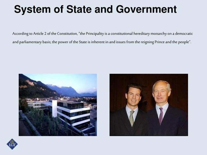 System of State and Government