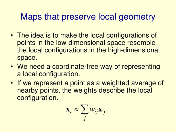Maps that preserve local geometry