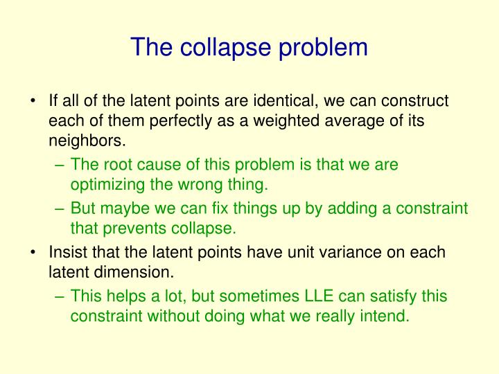 The collapse problem