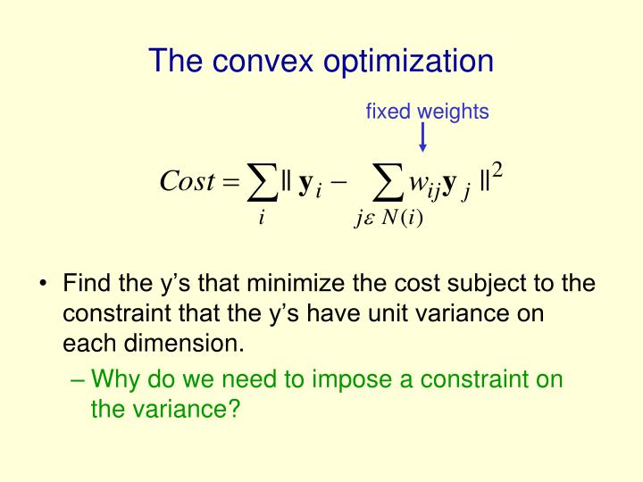 The convex optimization
