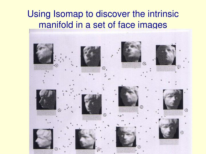 Using Isomap to discover the intrinsic manifold in a set of face images