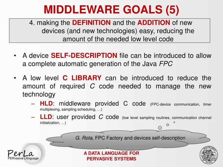 MIDDLEWARE GOALS (5)