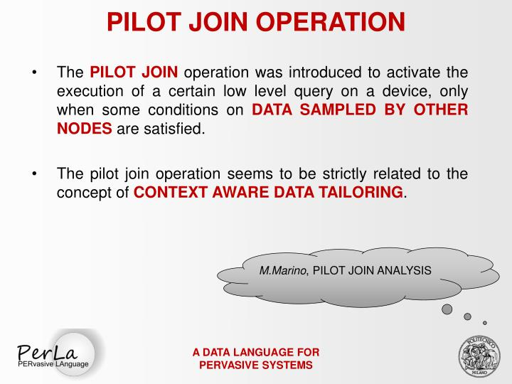 PILOT JOIN OPERATION