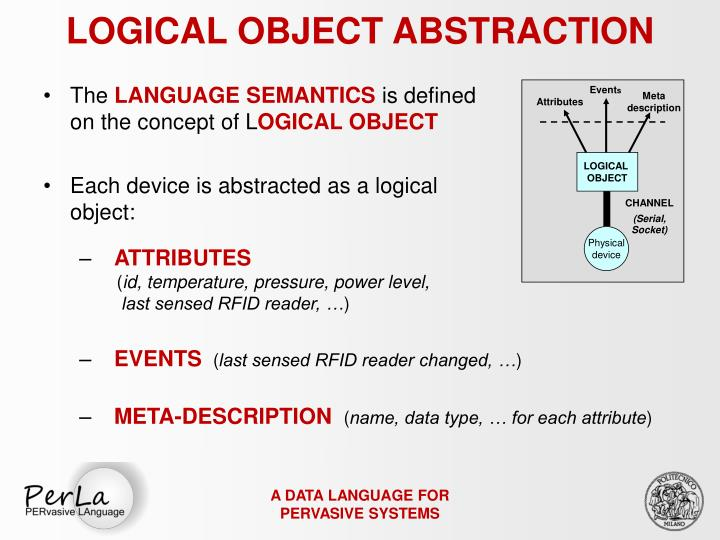 LOGICAL OBJECT ABSTRACTION