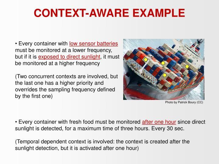 CONTEXT-AWARE EXAMPLE