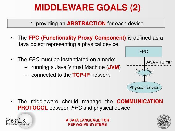 MIDDLEWARE GOALS (2)