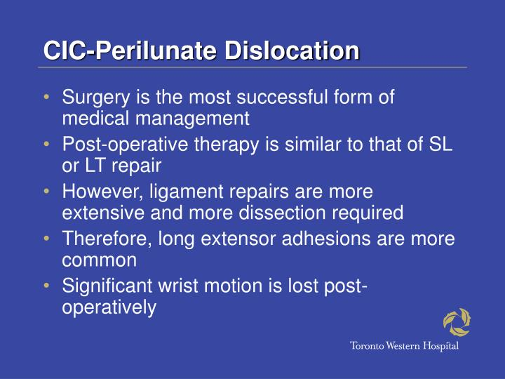 CIC-Perilunate Dislocation