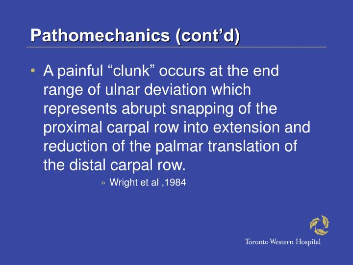 Pathomechanics (cont'd)