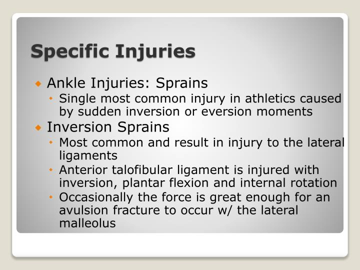 Ankle Injuries: Sprains