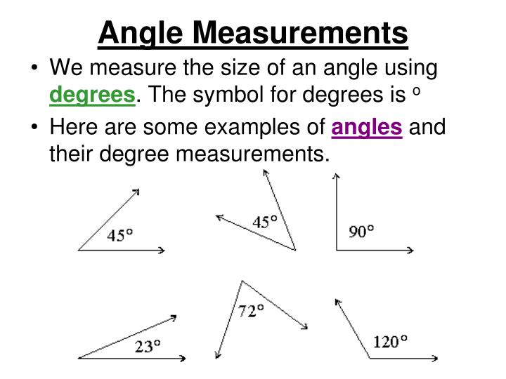 Angle Measurements
