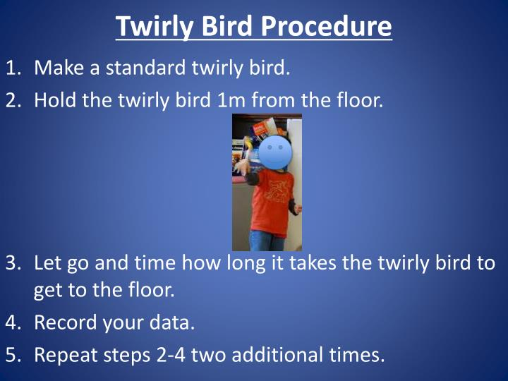 Twirly Bird Procedure