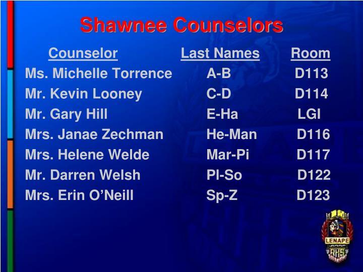 Shawnee Counselors