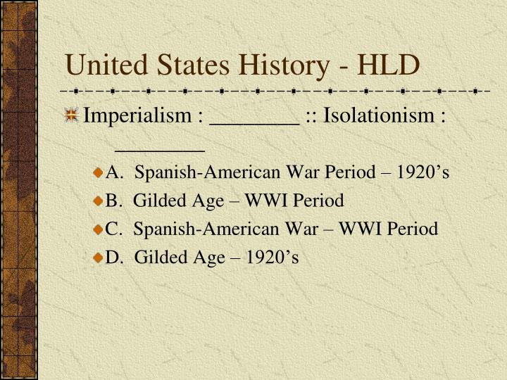 United States History - HLD