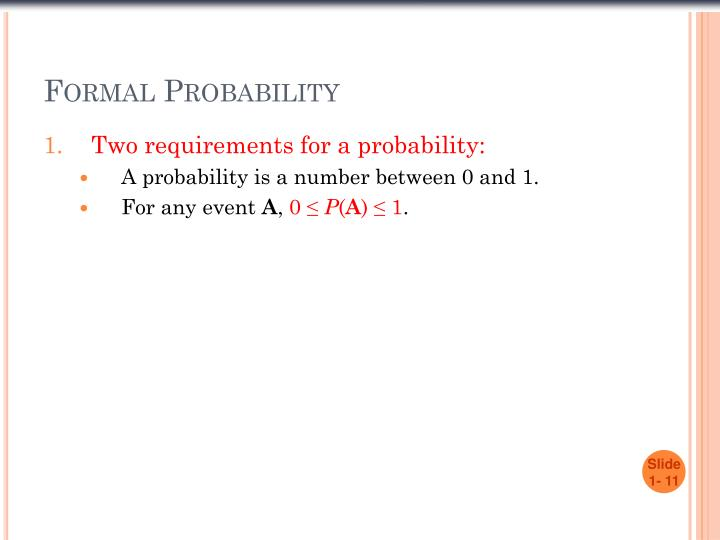 Formal Probability