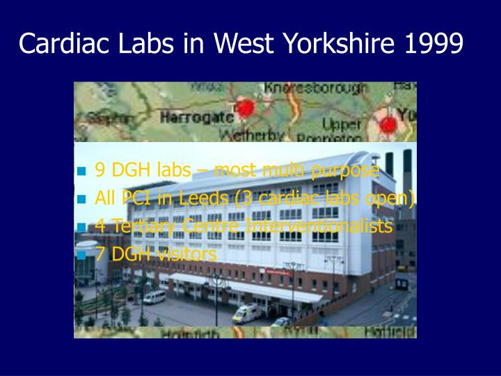 Cardiac Labs in West Yorkshire 1999