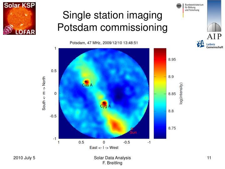 Single station imaging