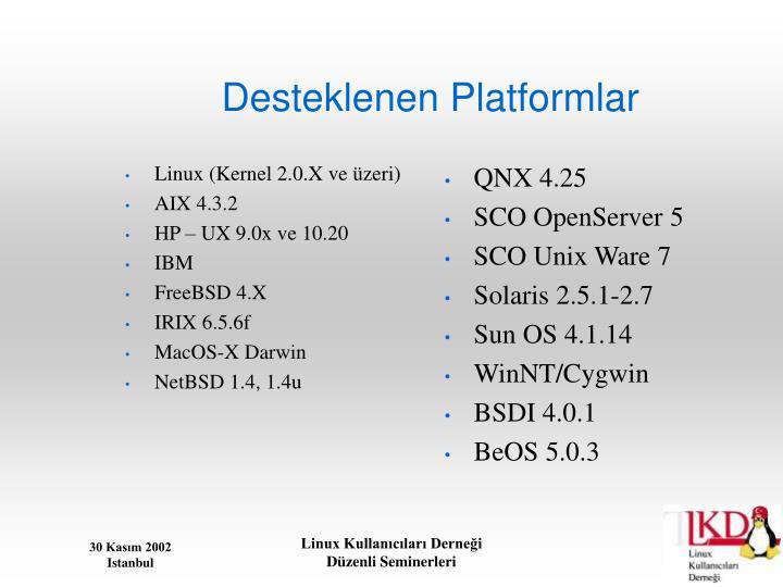 Linux (Kernel 2.0.X ve üzeri)