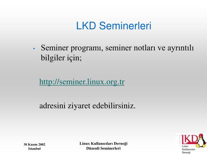 LKD Seminerleri