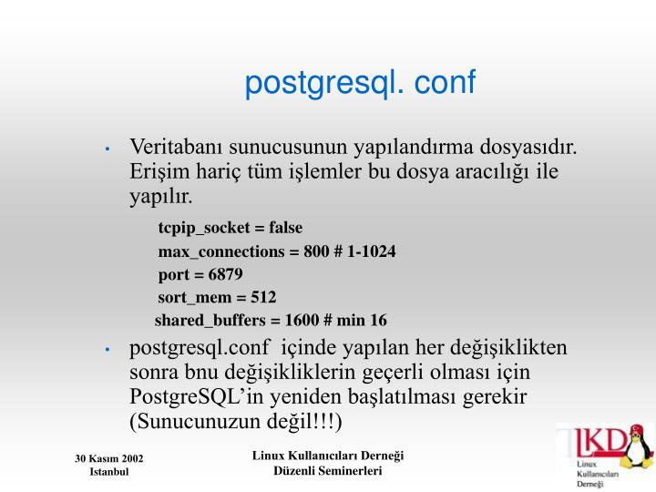 postgresql. conf