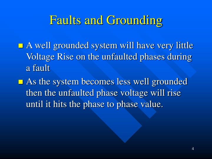 Faults and Grounding