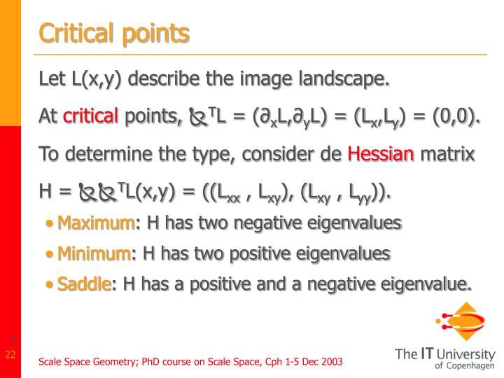 Critical points