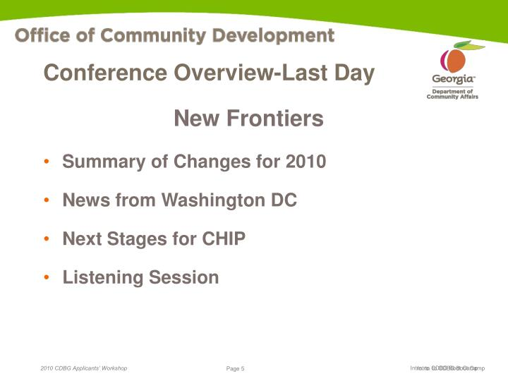 Conference Overview-Last Day