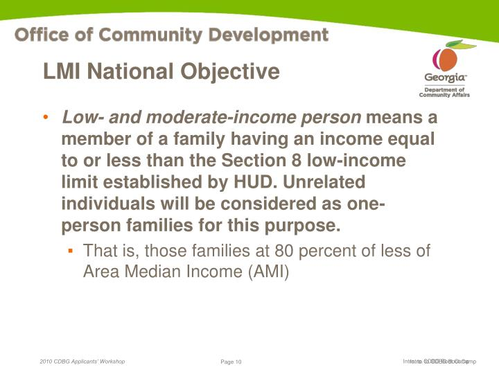 LMI National Objective