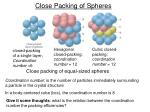 close packing of spheres1