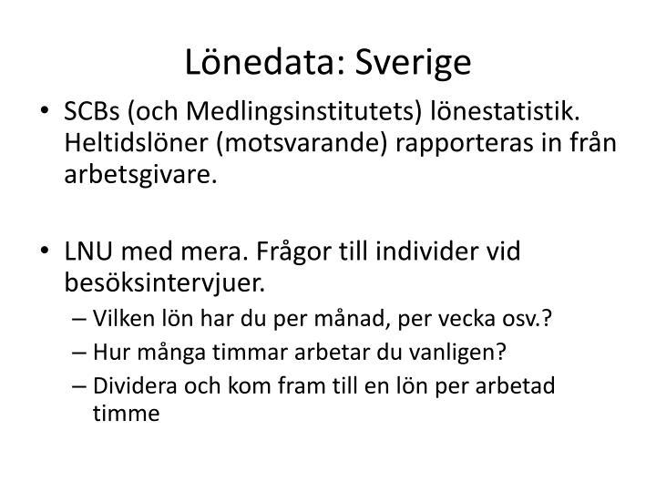 Lönedata: Sverige