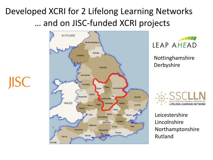 Developed XCRI for 2 Lifelong Learning Networks