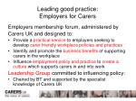 leading good practice employers for carers